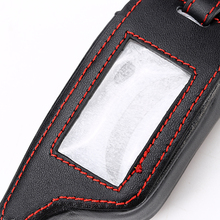 Leather Key Case for Russian Version Two Way Car Alarm LCD R