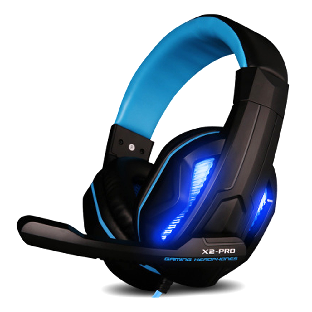 LED Light Gaming Headphones with Mic Stereo Earphone Over-ear Headset Noice Cancel for IOS Android Smartphone Table PC X2 P hlton wireless bluetooth headphones handsfree earphone stereo headset noice canceling with mic for iphone smartphone table pc