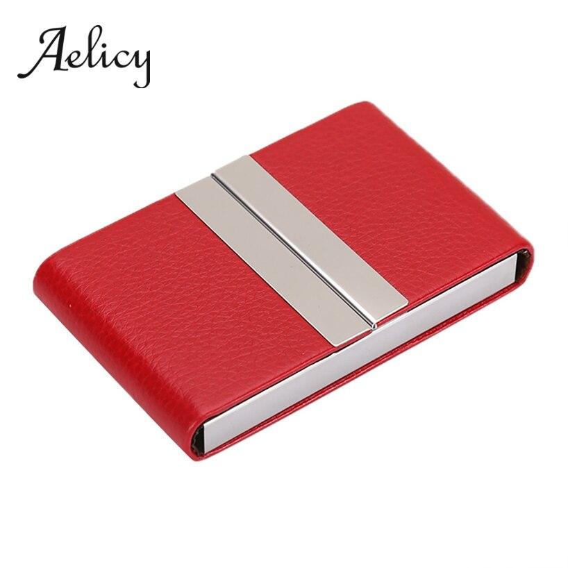 Aelicy металлический флип-чехол из искусственной кожи, двойной открытый чехол для кредитных карт, посылка, коробка для мужчин и женщин, визитна...