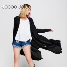 Jolee Jocoo Mulheres Casaco Cardigan Camisola Das Mulheres Casual Crochet Poncho Assimétrica Blusas Longas Vestidos Cardigans Blusão