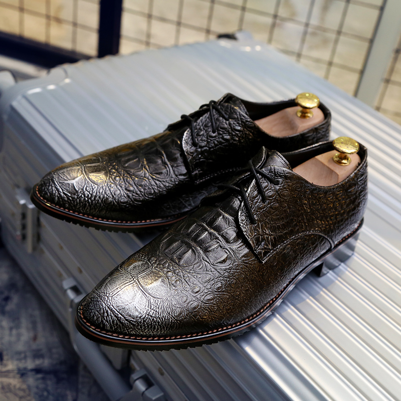 unique lace up wingtip men shoes luxury brand genuine leather ballerina flats loafers elegant classic formal oxford shoes|Men's Casual Shoes| |  - title=