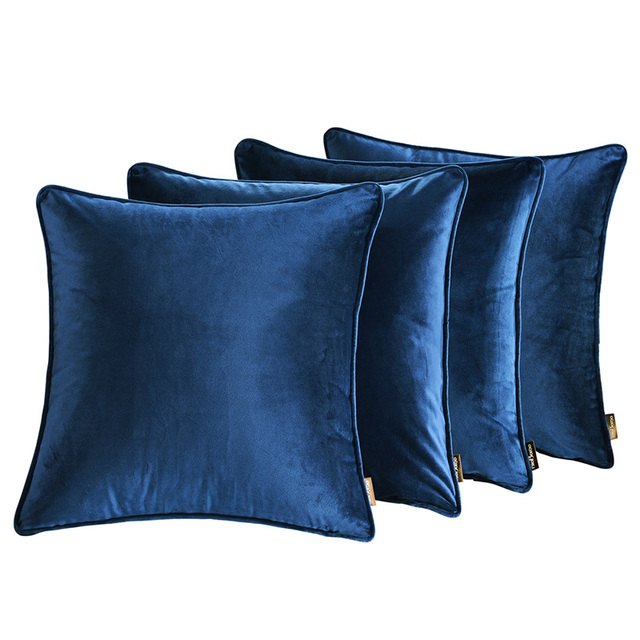 Pure Color Italian Velvet Pillow Cover 45*45cm Environmental Protection Fabric Comfortable Simple Style Wind Hold Pillowcase