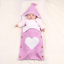 Milancel Baby Blankets Newborn Knitted Baby Covers LOVE Geometric Swaddling Baby Wrap Photography Bunny Style Swaddle Wrap
