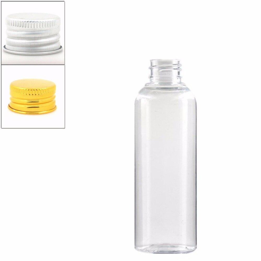 150ml empty Plastic Bottles, clear PET bottle with silver aluminum Lid lid