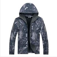 Winter Outdoor 2017 Thick Wool Beast Skin Soft Shell Heat Skiing Wear Camouflage Cargo Training Camp