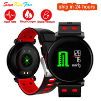 K2 Smart Bracelet Fitness Tracker Band Blood Pressure Heart Rate Monitor Blood Oxygen IP68 Waterproof OLED Color Screen Watch