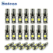 Safego 20 stks wit wedge T10 W5W 194 168 5 SMD met canbus fout gratis voor auto automotive led gloeilamp lamp(China)