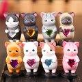 Novo Produto 8 pçs/set Coréia Do Sul estilo Rainbow Gatos Adoráveis Brinquedos Action Figure