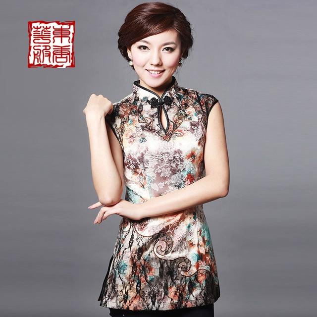 Cheongsam 2013 summer tang suit fashion short qipao top