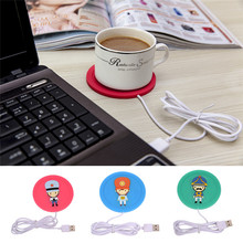 Office Coffee Tea Warmer Pad Mat Cartoon creative silicone electric USB warm cup heating device Nesest Gift Insulation coaster