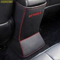 Leather Car Auto Center Console Armrest Pad Cover For Suzuki Vitara 2015 2016 2017 Accessories