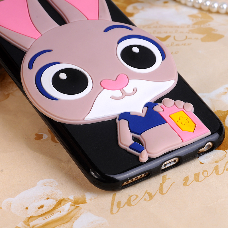3D Cartoon Cute Judy Bunny Cases for Sony Xperia L1 G3311 G3312 G3313 Back  Cover Rubber Fundas for Sony Xperia L1 G3311 G3312