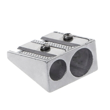 Metal Bevelled Double Hole Pencil Sharpener School Office Sharpener Stationery недорого