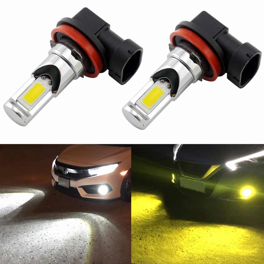 2Pcs H8 H11 H16 LED Bulbs H10 9145 9140 HB3 9005 HB4 9006 PSX24W 2504 H7 LED Fog Light Bulb 6000k White/3000k Golden Yellow