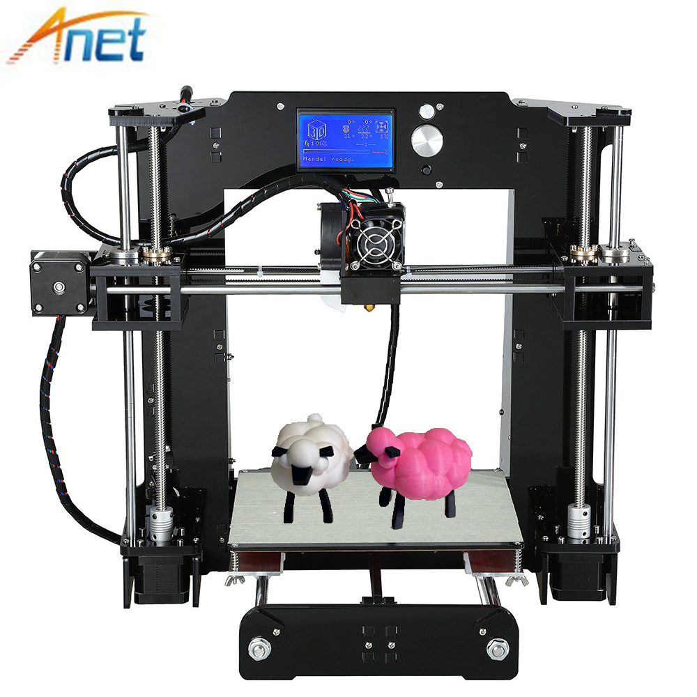 Anet 3D Printer Autolevel&Normal A8 A6 Easy Assemble Reprap i3 3D Printer DIY Kit with Filament 8GB SD Card and Tools anet a8 high quality reprap 3d printer prusa i3 precision with 2 rolls kit diy easy assemble filament 8gb sd card lcd screen