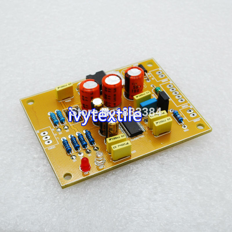 Top MINI UDA1351 Decoder Board DAC <font><b>32khz</b></font>-96khz 16-24bit AC or DC input assembled free shipping image