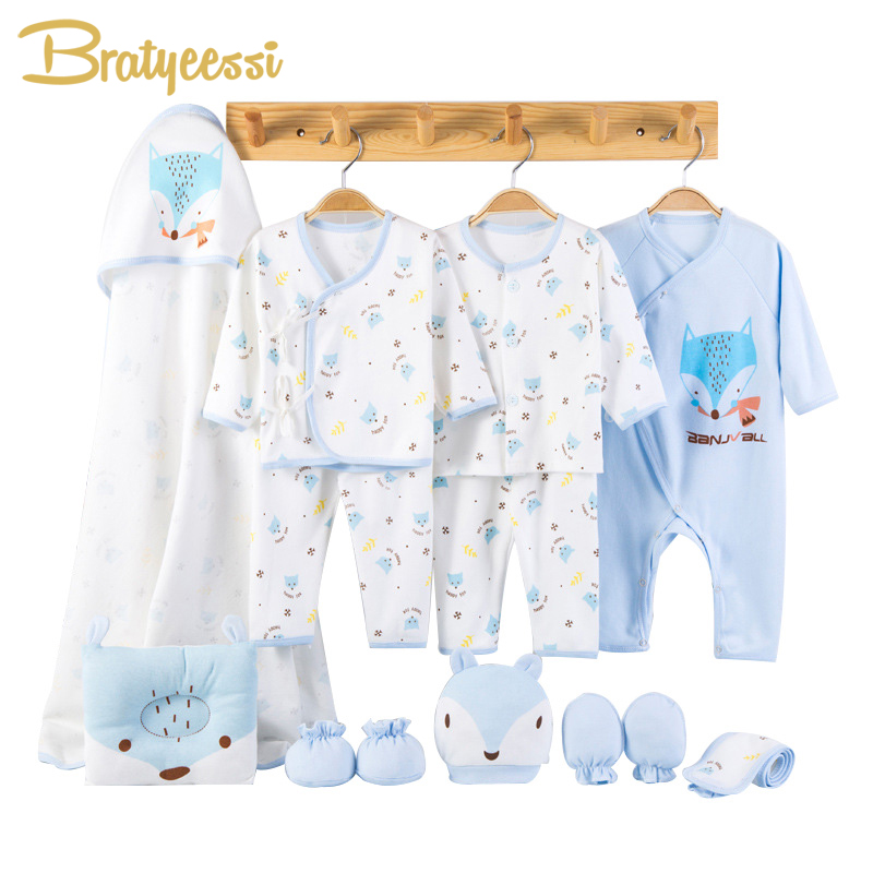 Cartoon Fox Baby Boy Clothes Newborn Clothing for Baby Girl Set Soft Cotton Toddler Infant Clothes New Born Gift 13 Pcs/Set 2018 hot 7pcs set 100% cotton material new born baby clothes full kits for kids cotton material baby clothes boy girl newborn