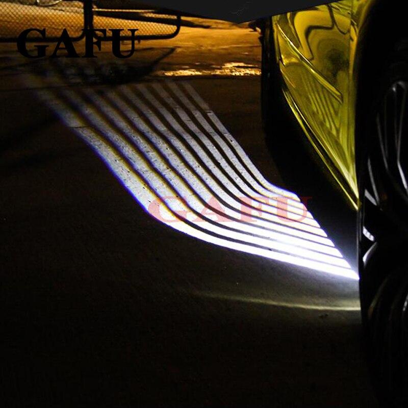 2 pièces voiture ange ailes bienvenue lumière ombre lampe voiture LED porte avertissement lampe pour kia rio 4 voiture style 2017 2018