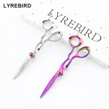 Lyrebird HIGH CLASS 5.5 INCH Professional hair cutting scissors Silvery Rainbow Japan hair shears Pink Stone NEW