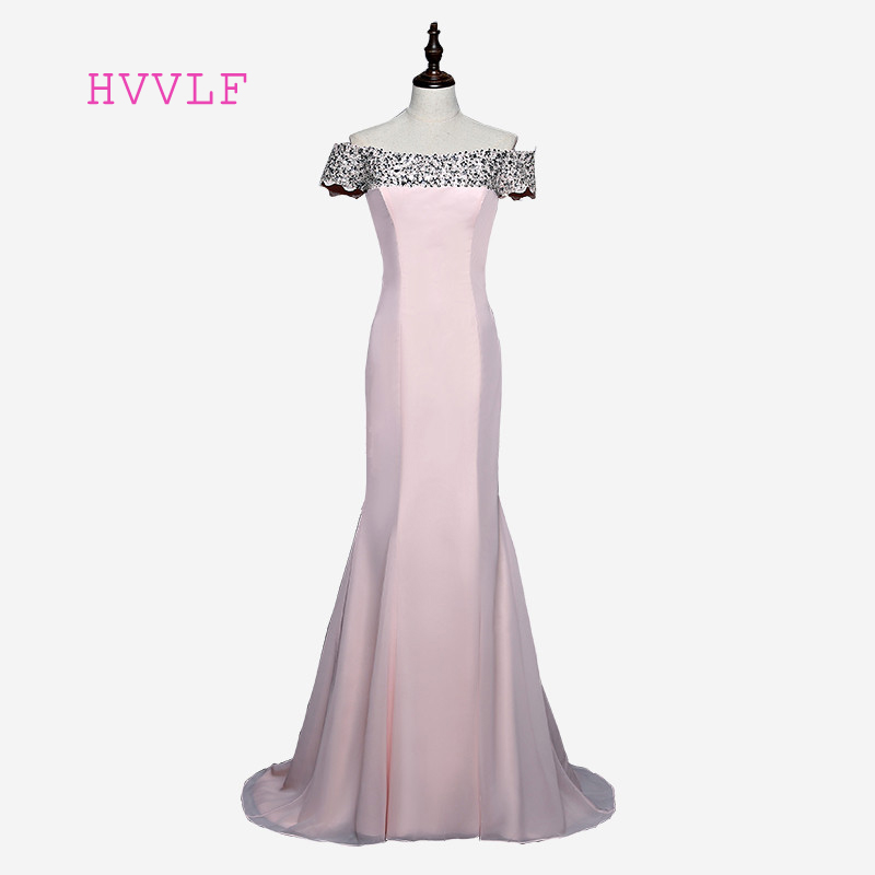 Hot Sale 2018 Mermaid Short Sleeves Floor Length Pink Beaded Long Bridesmaid Dresses Cheap Under 50 Wedding Party Dresses
