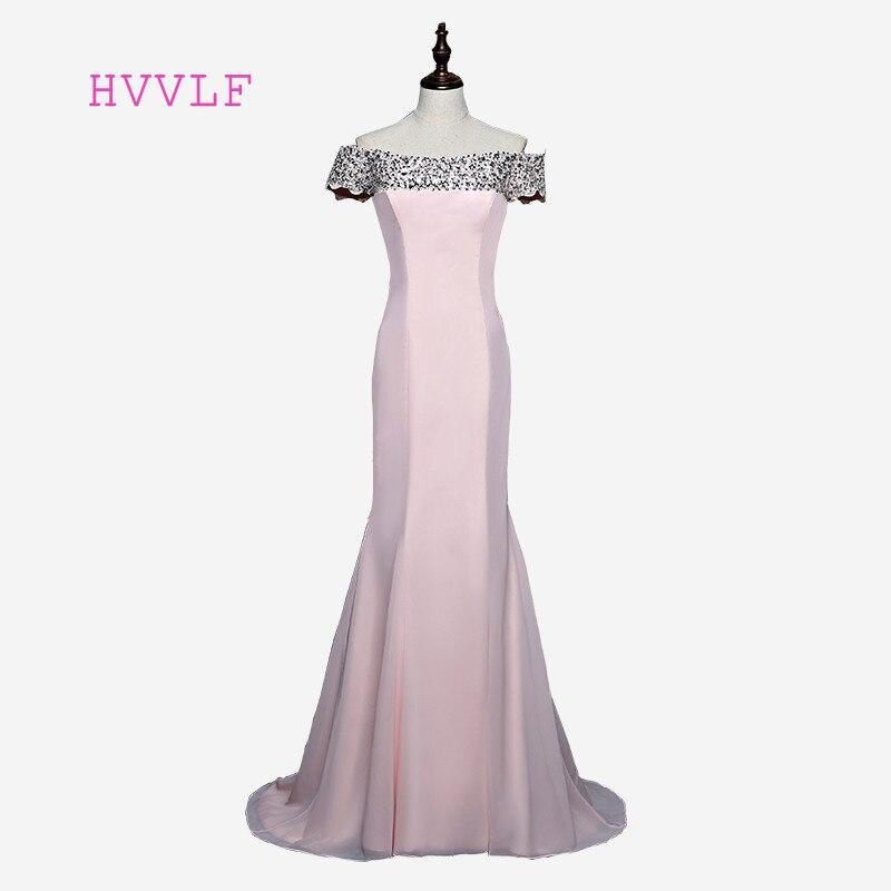 Hot Sale 2019 Mermaid Short Sleeves Floor Length Pink Beaded Long Bridesmaid Dresses Cheap Under 50 Wedding Party Dresses