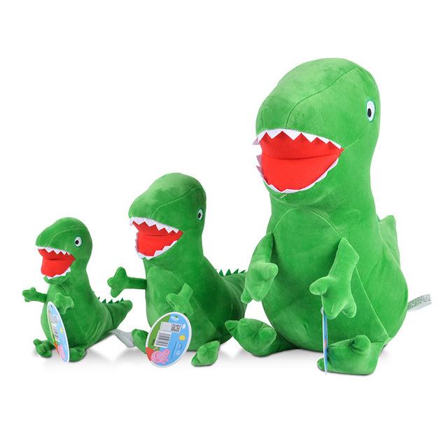 23cm 2Pcs/Set Kawaii Green George MR Dinosaur&Yellow Bear 40/50cm dinosaur Plush Doll Stuffed Toys From Pink Pig MV Kids Gift