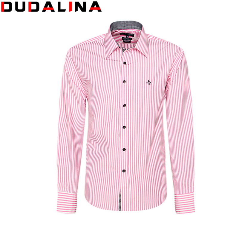 Dudalina Camisa Men Shirt Long Sleeve Brand Clothing Casual Male Shirts Slim Fit Camisa Social Xadrez Masculina Chemise Homme