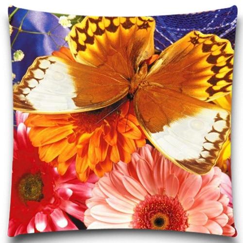 Φ ΦOr Papillon Fleur Naturel Style Coton Polyester Taie d oreiller ... 657bc21568dd