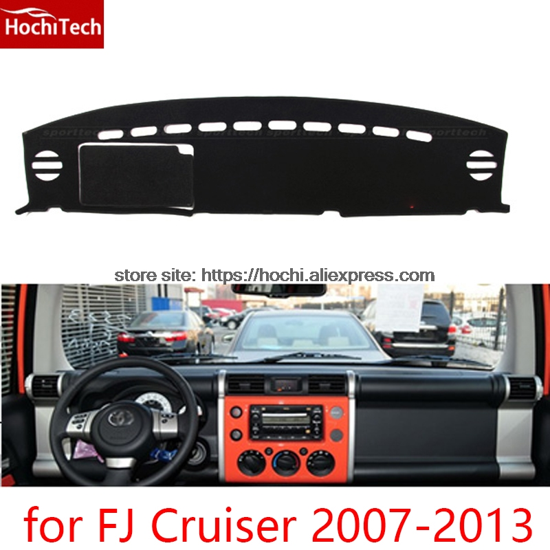 For toyota FJ Cruiser 2007-13 Double layer Silica gel Car Dashboard Pad Instrument Platform Desk Avoid Light Mats Cover Sticker for toyota fj cruiser 2007 13 double
