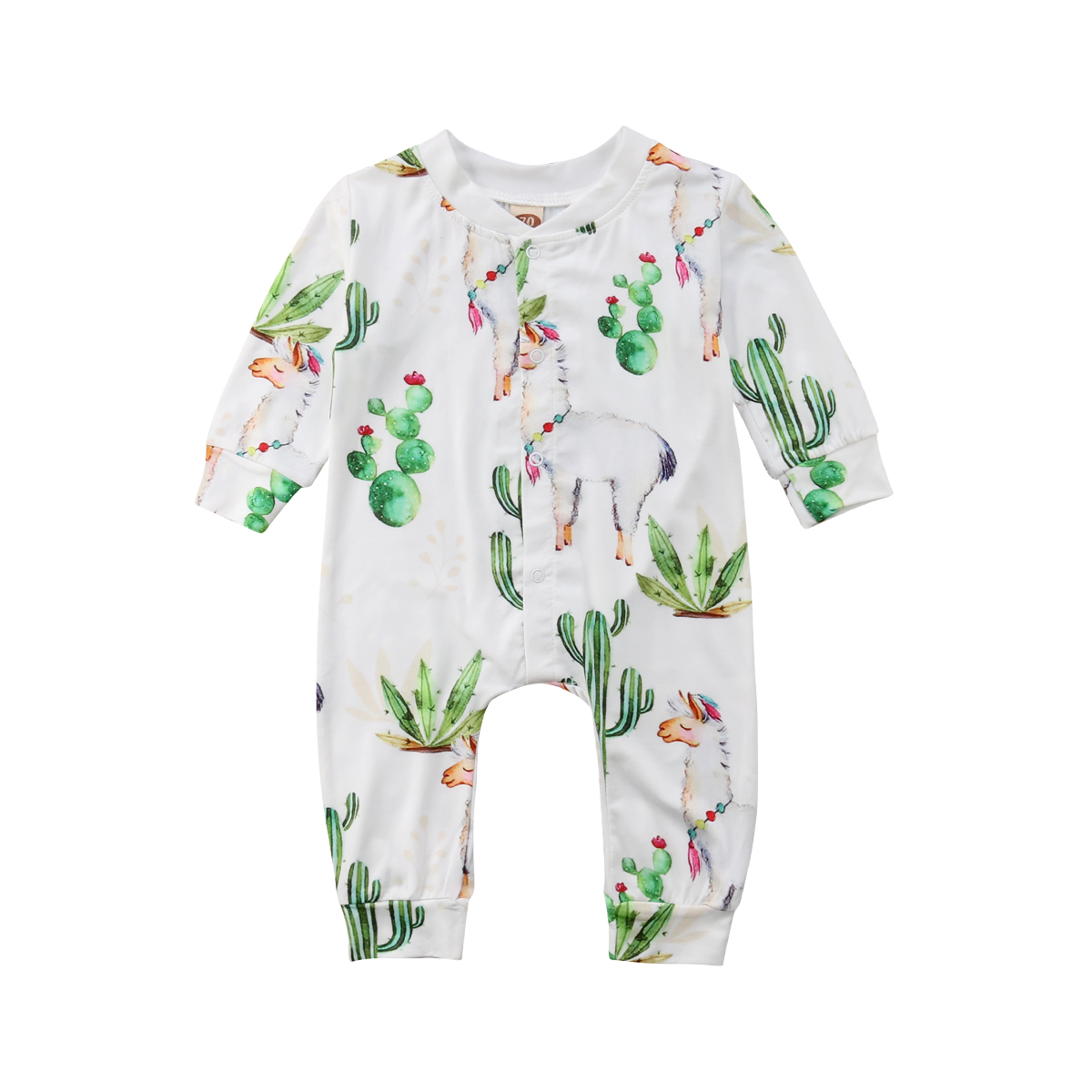 Toddler Cactus Kids Baby Boy Girls Alpaca   Romper   Jumpsuit Pants Clothes Outfits