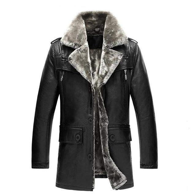 Winter Genuine Leather Jackets High Quality Men's Leather Jacket Casual Motorcycle Leather Jacket Thicken Overcoat For Man 5XL