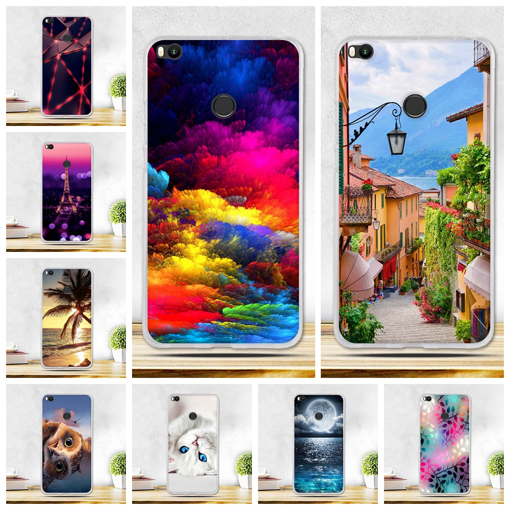 "For Xiaomi Mi Max2 Case Scenery Cover Silicone Coque for Xiaomi Mi Max 2 Cover Phone Cases for Xiomi Mi Max 2 Fundas 6.44"" Bagd"