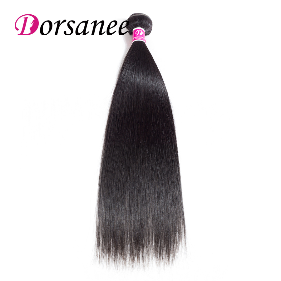 Dorsanee Brazilian Hair Straight 1 pc 100% Human Hair Weave Bundles 100g/pc 8-26 inch Non Remy Hair Extensions Natural Color 1b