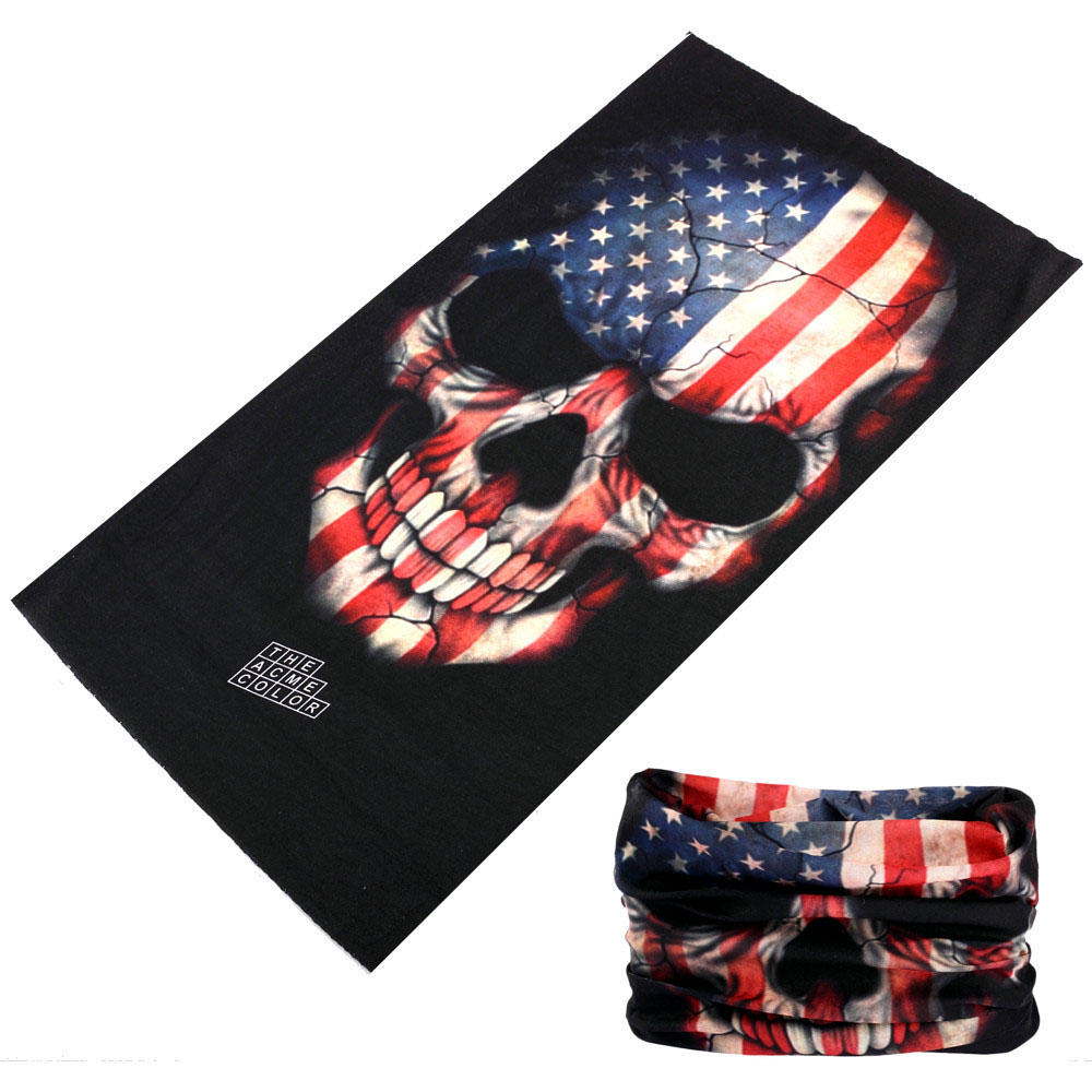 Multi Use Magic Fishing Scarf Bandana Neck Warmer Skull Shield Face Hunting Mask Headband   Headwear   Cycling Scarves Bicycle buffe