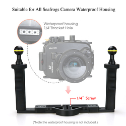 Seafrog Diving Camera housing Handle Tray Grip Bracket shutter trigger for gopro Phone TG5 Sony Canon Underwater Photography