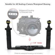 Держатель для камеры для дайвинга Seafrog, ручка держатель, триггер затвора для телефона gopro, TG5, Sony, Canon, для подводной съемки