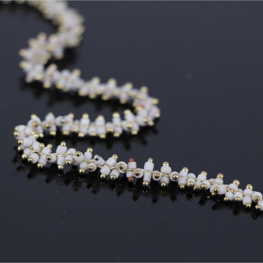 5 Meter, Großhandel kleine Weiße Glas Cube Perlen Rosenkranz Kette ...