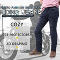 Chaqueta de moto de motocross off-road rodilla protectora moto jeans pantalones a prueba de viento de la motocicleta de carreras pantalones vaqueros pantalones casuales skp702