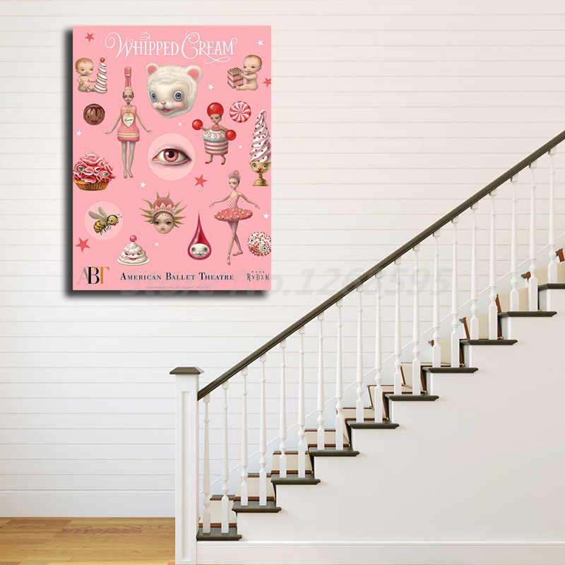Mark Ryden Krem Şanti Duvar Sanatı Tuval Poster Ve Baskı Tuval Boyama Dekoratif Resim Ofis Oturma Odası Için Ev Dekor
