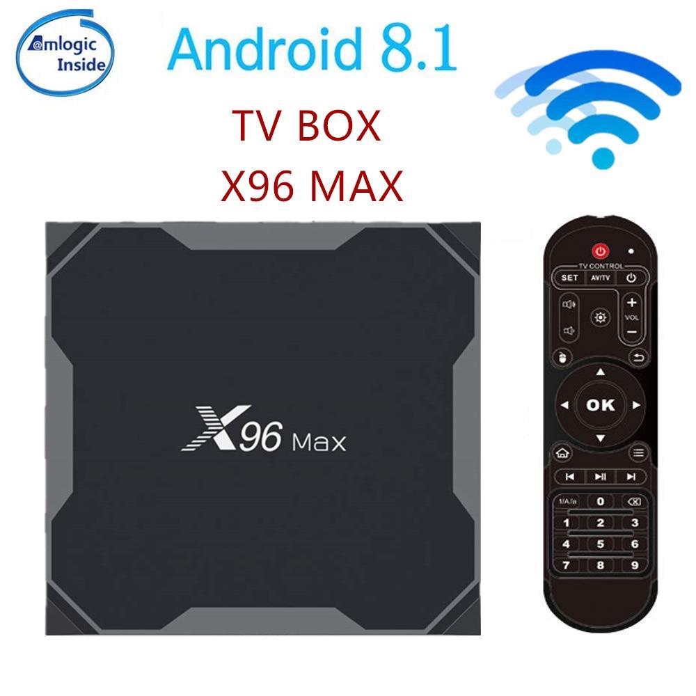 X96 Max Smart TV BOX Android 8.1 Amlogic S905X2 LPDDR4 Quad Core 4 GB 64 GB 2.4G & 5 GHz Wifi BT 1000 M 4 K X96Max décodeur tvbox