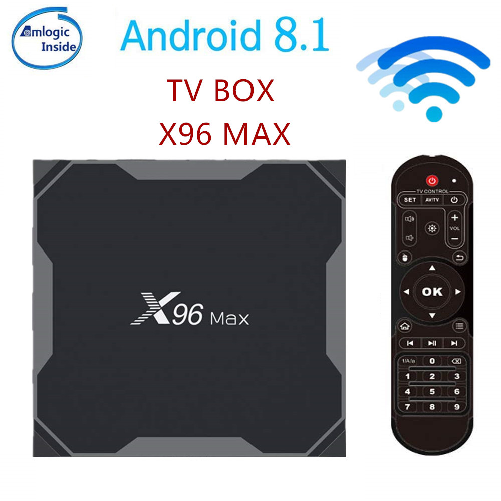 X96 Max Smart TV BOX Android 8.1 Amlogic S905X2 LPDDR4 Quad Core 4 GB 64 GB 2.4G & 5 GHz Wifi BT 1000 M 4 K X96Max décodeur tvbox