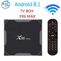 X96 Max Smart TV BOX Android 8.1 Amlogic S905X2 LPDDR4 Quad Core 4 GB 64 GB 2.4G & 5 GHz Wifi BT 1000 M 4 K X96Max Set-top box tvbox