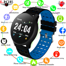 Купить с кэшбэком 2019 LIGE New Smart bracelet Smart Wristband Touchscreen Swim Posture Detect Heart Rate Sleep Snap Pedometer sport Smart watch