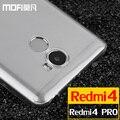 Xiaomi redmi 4 pro case silicone redmi 4 case pro ultra fina mofi xiomi redmi 4 case xiomi voltar limpar cover transparente