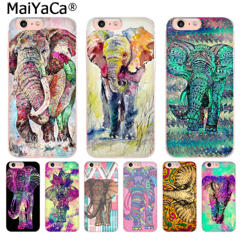 MaiYaCa Fashion Indian elephant High-end phone Accessories Case for Apple iPhone 8 7 6 6S Plus X 5 5S SE 5C 4 4S Mobile Cover ...