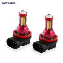 Dotaatdw 2x автомобиля светодио дный свет H8 H11 9005 HB3 9006 HB4 светодио дный 4014 чип лампы 12 В авто лампы Габаритные огни противотуманные лампы