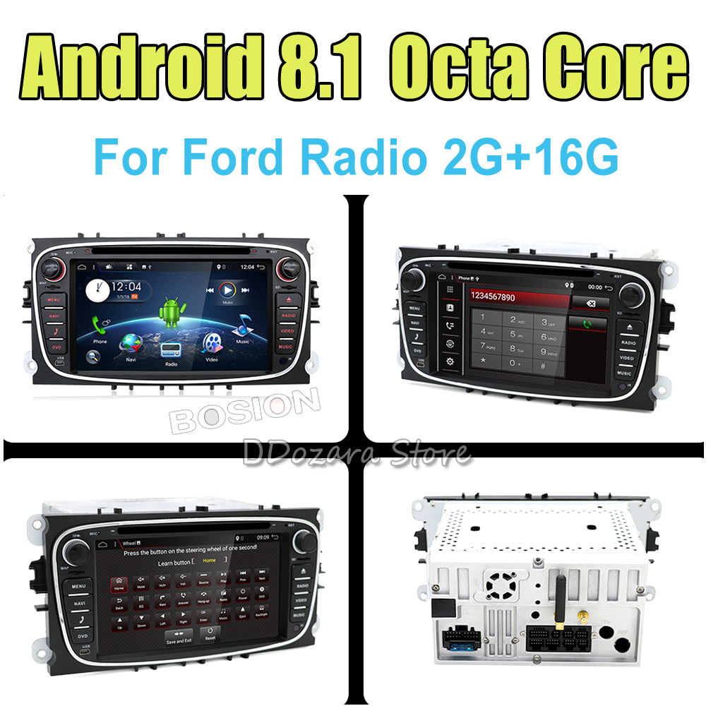 2G RAM Octa Core android 8.1 Car dvd Video GPS Player For Ford focus 2 3 Mondeo Capacitive screen +wifi+Radio+BT 7 android 4 2 capacitive screen car dvd player w ips gps rds wifi radio aux bt for audi a3