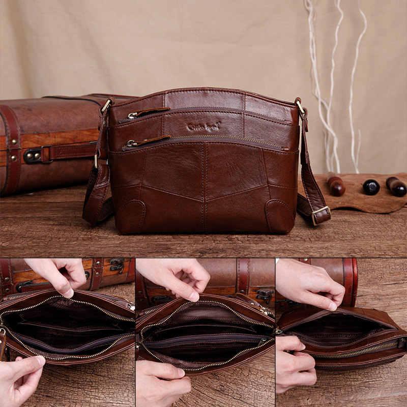 Cobbler Legend Multi poches Vintage en cuir véritable sac femme petites femmes sacs à main sacs pour femmes 2019 épaule sac à bandoulière