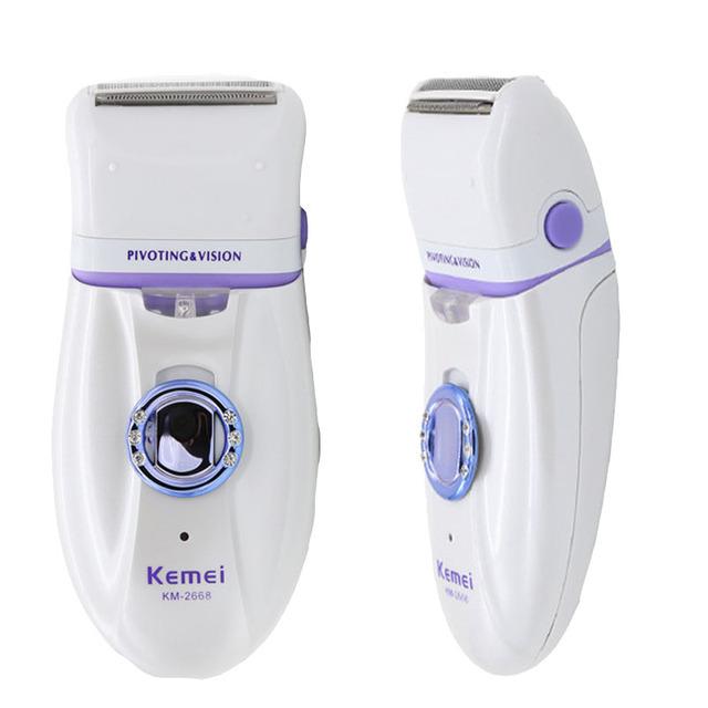 2 em 1 Mulheres lâmina de barbear Depilador Elétrico depilação ferramenta Faca Barbeador senhora Barbeador Barbear Dispositivo Lã feminino pele cuidados
