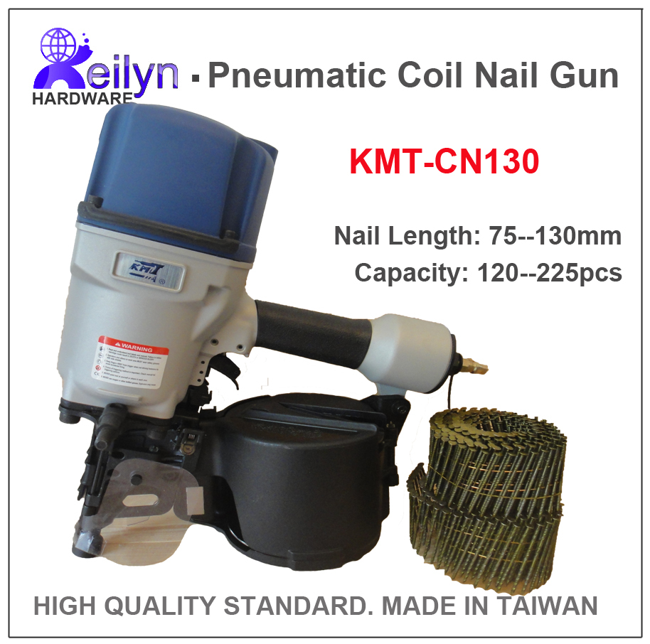 KMT CN130 Industrial Pnematic Coil Nail Gun Coil Nailer Air Nailer, Taiwan Brand with great quality  fastone cn80 industrial pneumatic coil nail gun coil nailer air nailer made in taiwan high quality standard